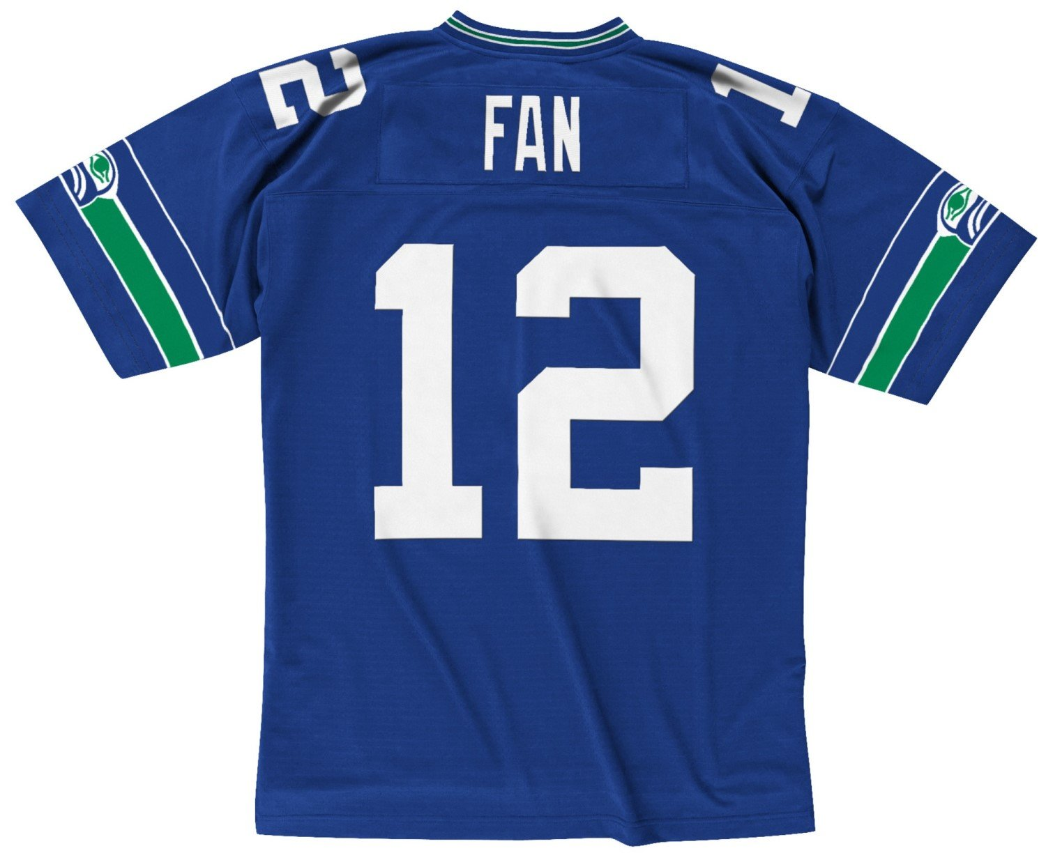 check out 57751 bc18e Seattle Seahawks Blue Fan #12 12th Man Mitchell and Ness Throwback Jersey