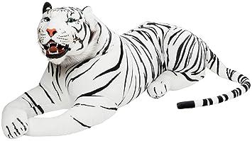 BRUBAKER gigante peluche tigre con dientes de color blanco ...