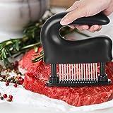 Imoker ミートテンダライザー 肉筋切り器 肉たたき 48刃 ステンレス製 キッチン用品 洗浄用ブラシ付き お肉が柔らかくなる