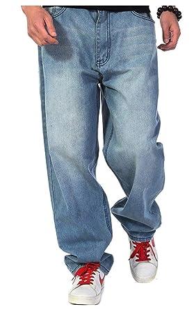 2018 Hip Hop Denim Style Baggy Pants Hipster Style Simple Jeans Rap Denim  Jambe Droite Pantalon 3381a94ac975