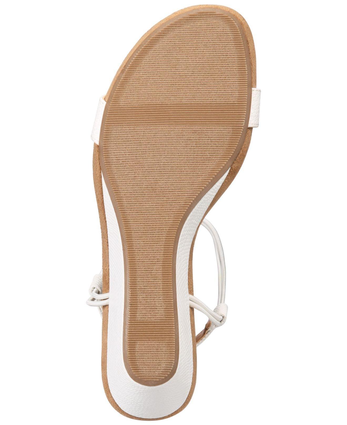 Style & Co. Womens Mulan Open Toe Casual Platform, White Snake, Size 10.0