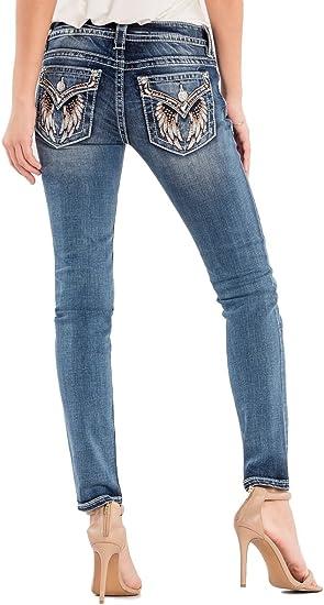 Womens Silver Jeans Mid Rise Rhinestone Suki Bootcut 25 26 28 29 30 31 32 33 34