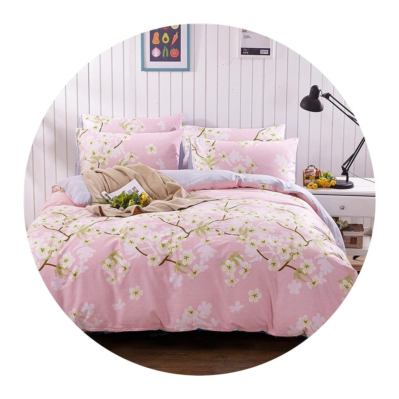 Demasia store-bedandbath Bedding Home Textile Cotton Twill Printing Three/Four-Piece Duvet Cover Set Bed Sheet Pillowcases Cover Suit 6 Size,20,220x240cm (4Pcs)