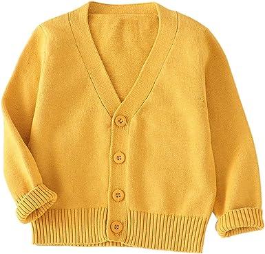 MEIbax Otoño e Invierno Moda Color Sólido Jersey Manga Larga bebé niño Niñas Bebés Camisa de Punto Ropa de Punto Cárdigans Tops Bebe Jerséis: Amazon.es: Ropa y accesorios