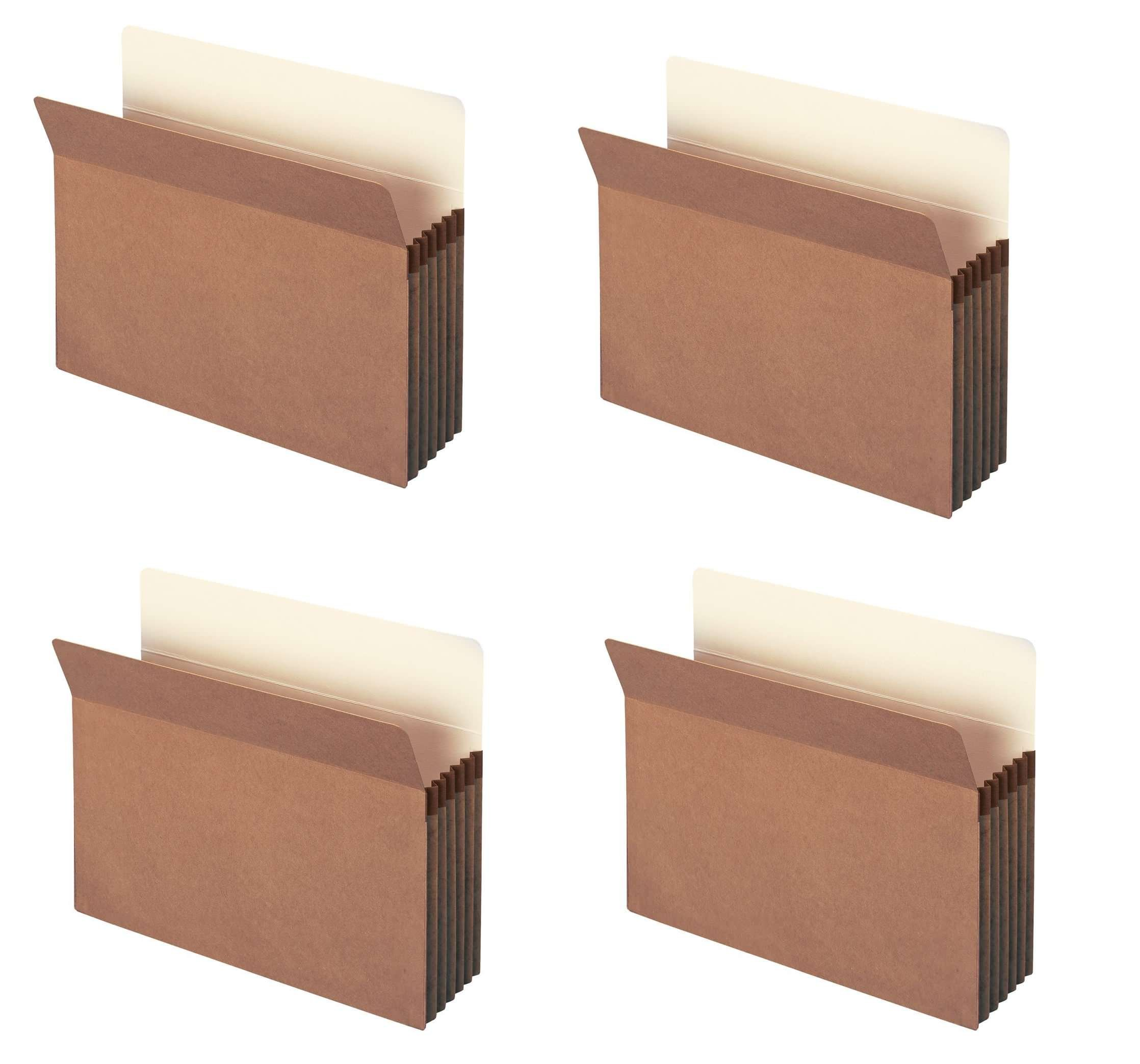 Smead File Pocket, Straight-Cut Tab, 5.25 inches Expansion, Letter Size, Redrope, 10 per Box (73234) HPNmTF, 4 Pack