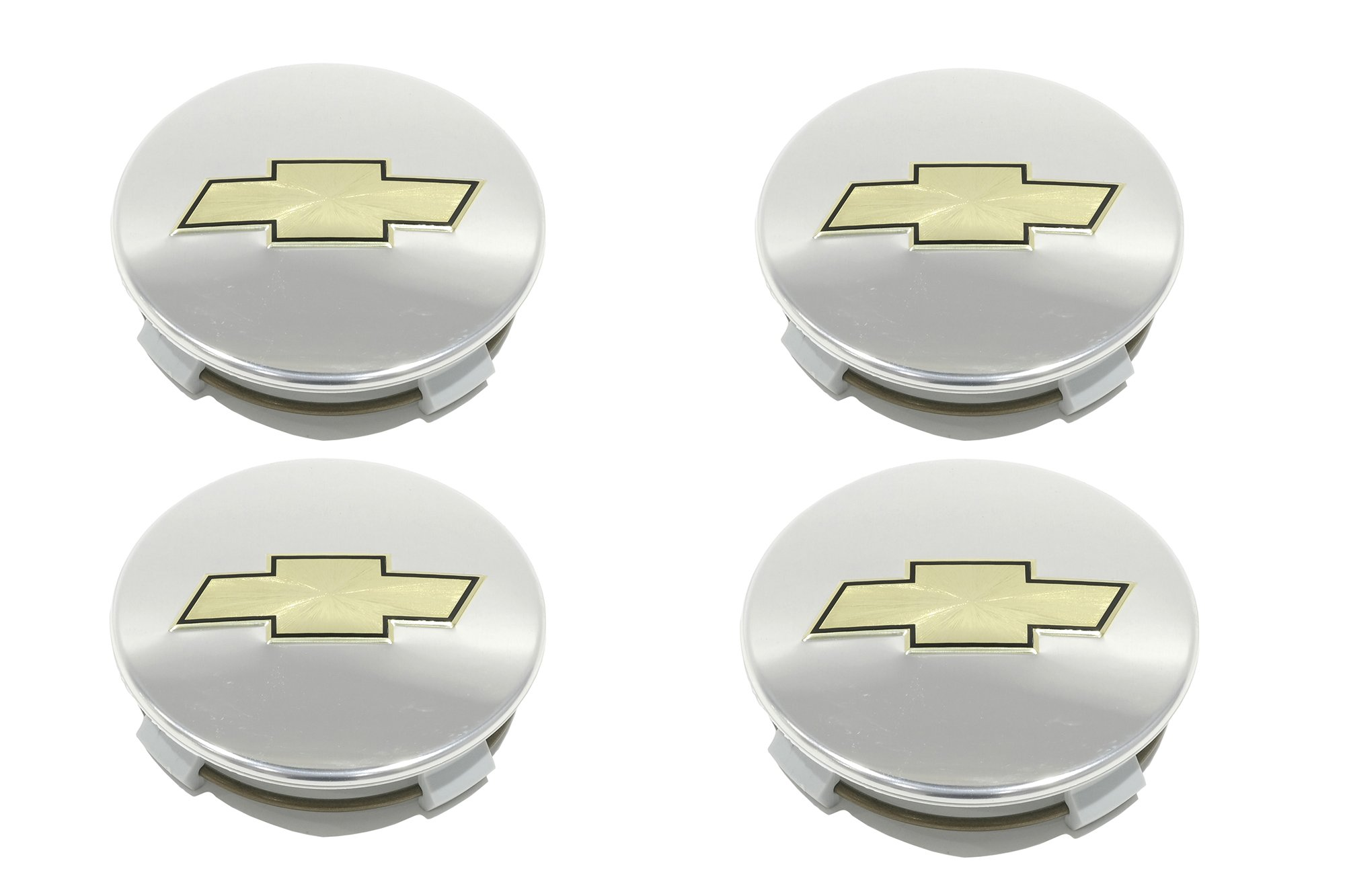 OEM NEW Wheel Hub Center Caps (4) Chrome w/ Gold Bowtie 99-14 Chevrolet 12499421