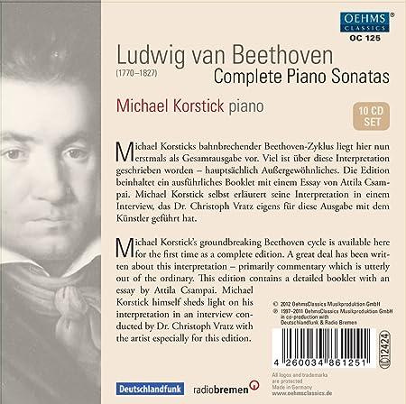 ludwig van beethoven michael korstick beethoven complete piano  ludwig van beethoven michael korstick beethoven complete piano sonatas com music