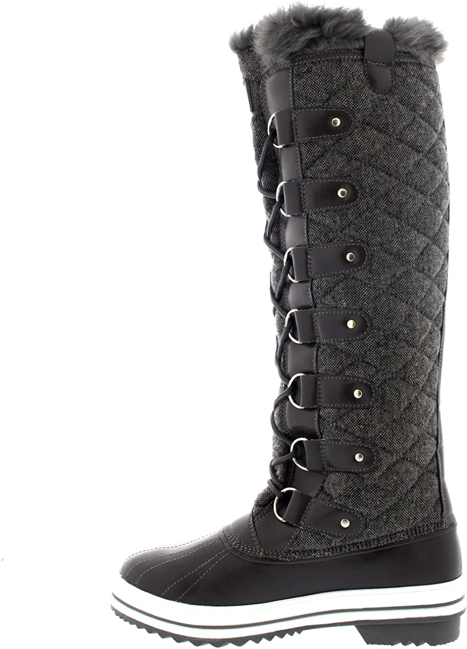Polar Womens Quilted Knee High Duck
