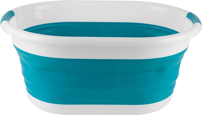 Beldray Oval Plegable Cesta de la Colada, Color Morado, 62 x 44 x 8,3 cm (Turquesa)