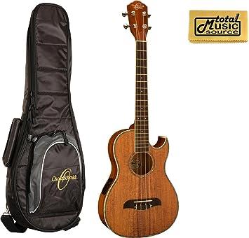 Oscar Schmidt acústica/eléctrica barítono ukelele w/funda, madera de Koa, ou55ce: Amazon.es: Instrumentos musicales