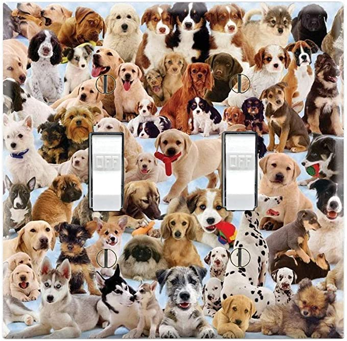 DOG BONES LIGHT SWITCH COVER PLATES OUTLETS TREATS BISCUITS K-9 PUPPY DOGGY
