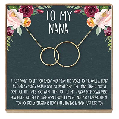 Dear Ava Nana Gift Necklace 70th Birthday Jewelery 80th For Grandma