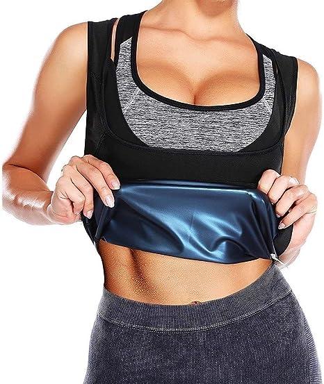 XiuLi Camisa de Sudor de Manga Corta Sauna Adelgazante Camisa de Entrenamiento de Cintura de Neopreno Camisa de Entrenamiento para Mujer Caliente Fitness: Amazon.es: Deportes y aire libre