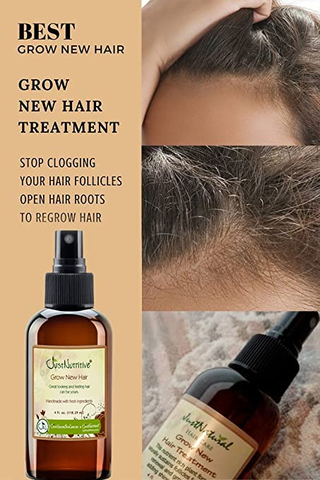 Justnatural Natural Grow New Hair Treatment Amazon Co Uk Health Personal Care