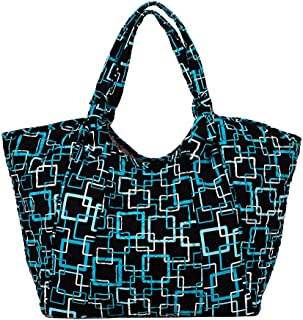 product image for Ahoy Tote by Stephanie Dawn, Made in USA, Quilted Cotton Fabric, Slip in Pockets, Large, Handcrafted, Reusable, Washable