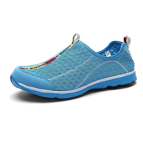 CHNHIRA Zapatillas Playa De Malla y Transpirable Zapato Para Hombre De Secado Rápido Varios Número(43.5 EU Marina) Ew8cc7k