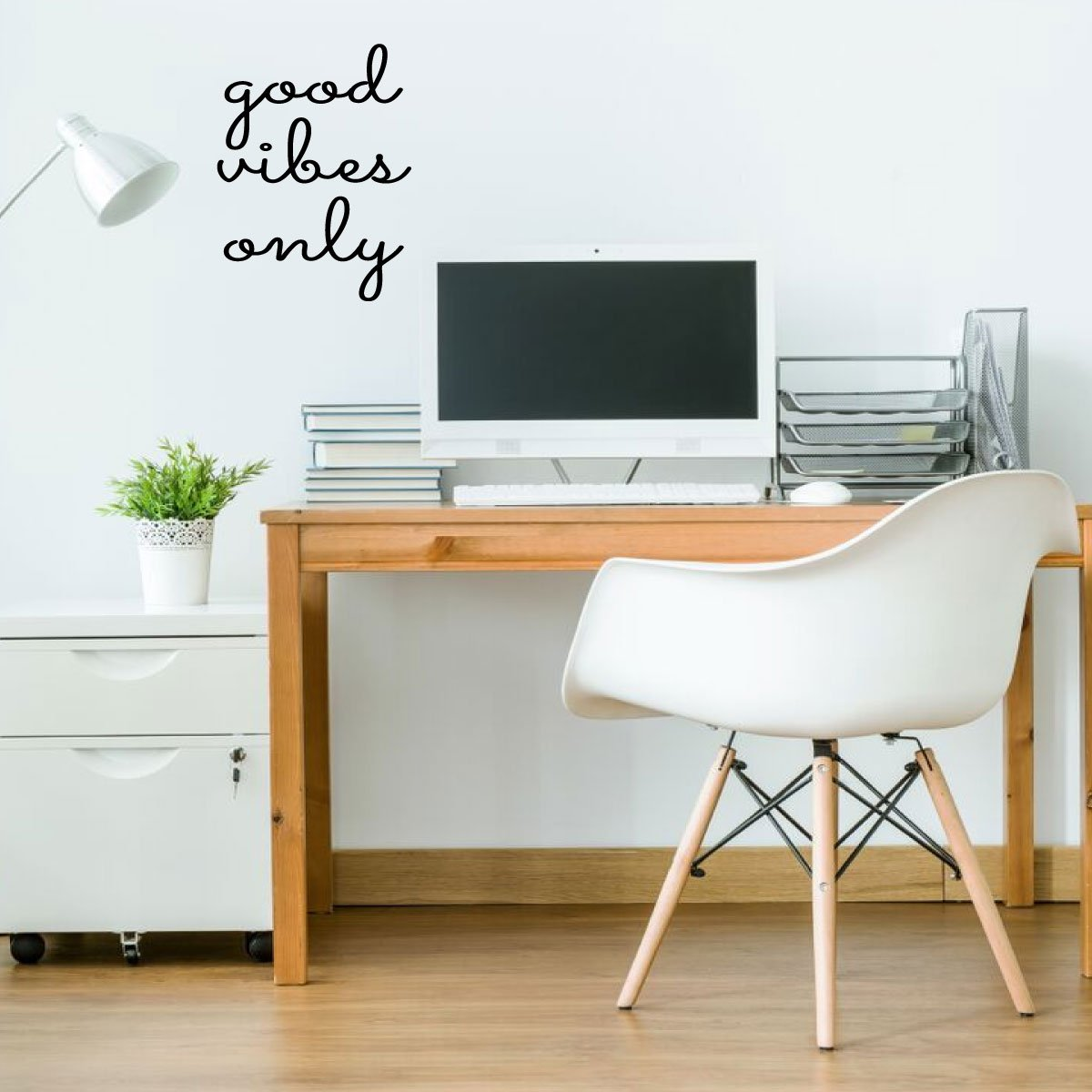 Good Vibes Only Wall Decal - Vinyl Decor Lettering for Work Office, School Classroom, Living Room, Bedroom, Playroom at Home
