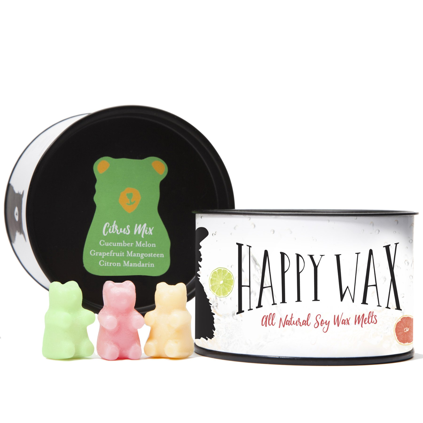 Happy Wax - Four Mixed Tins Wax Melt Gift Set - Includes 3.6 Oz Each of Our Scented Soy Wax Melts in Our Cocktail Mix, Fresh Mix, Citrus Mix, and Spa Day Mix! by Happy Wax (Image #3)