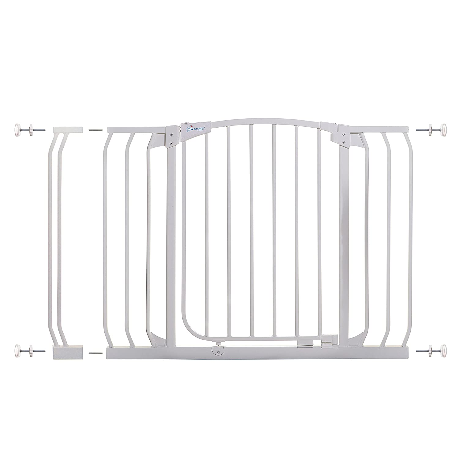 Dreambaby Chelsea Auto Close Security Gate in White with Extensions L778W