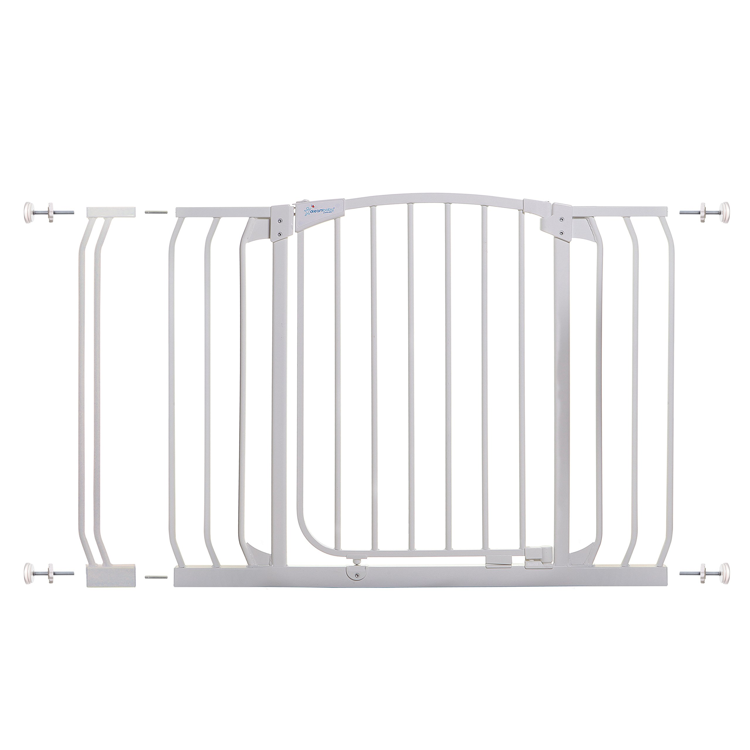 Dreambaby Chelsea 38-46 in Auto Close Security Gate w/ Stay Open Feature- White
