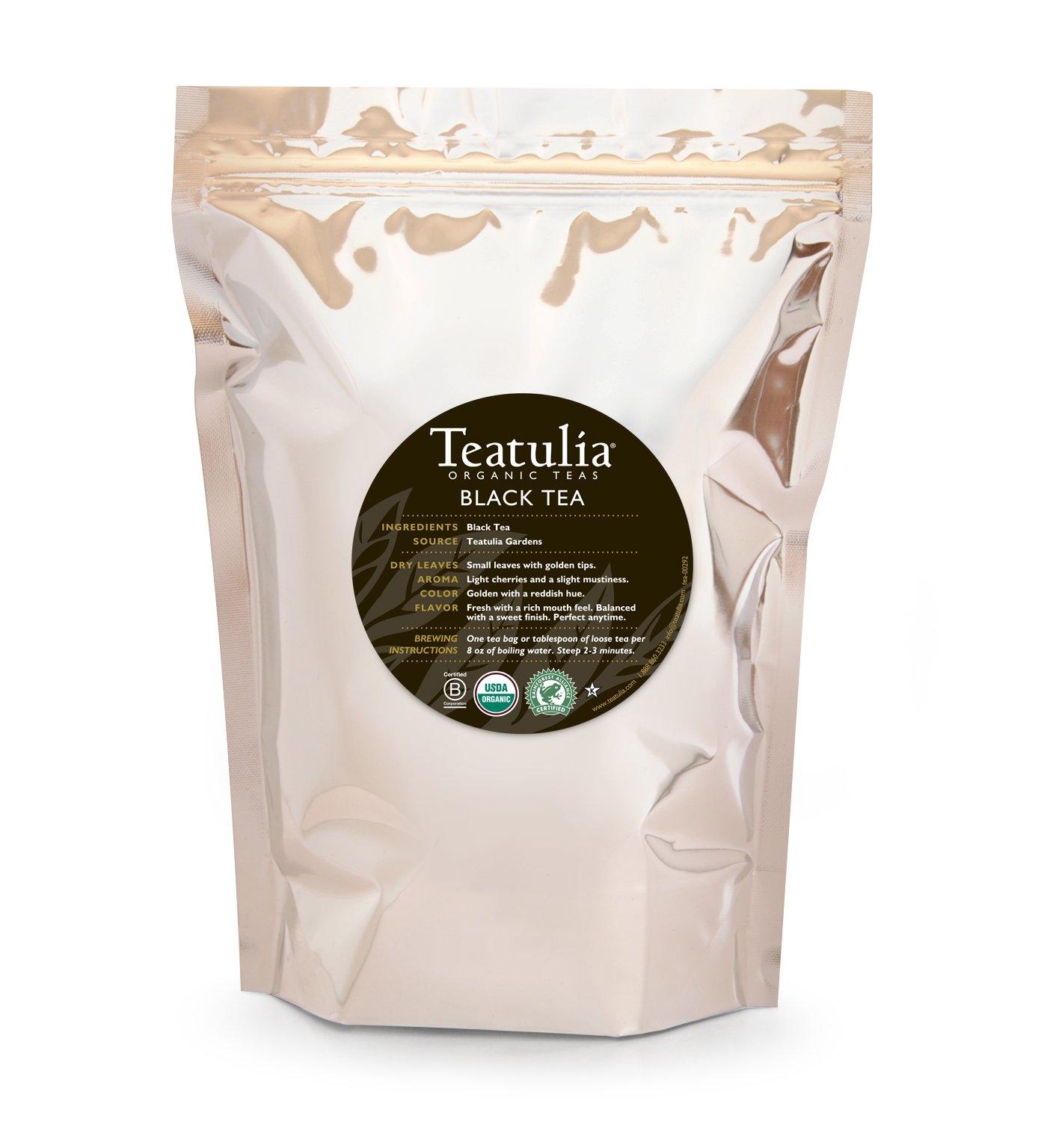 CDM product Teatulia Organic Loose Leaf Black Tea - 1lb Bag - 16oz - Brew Hot or Cold big image