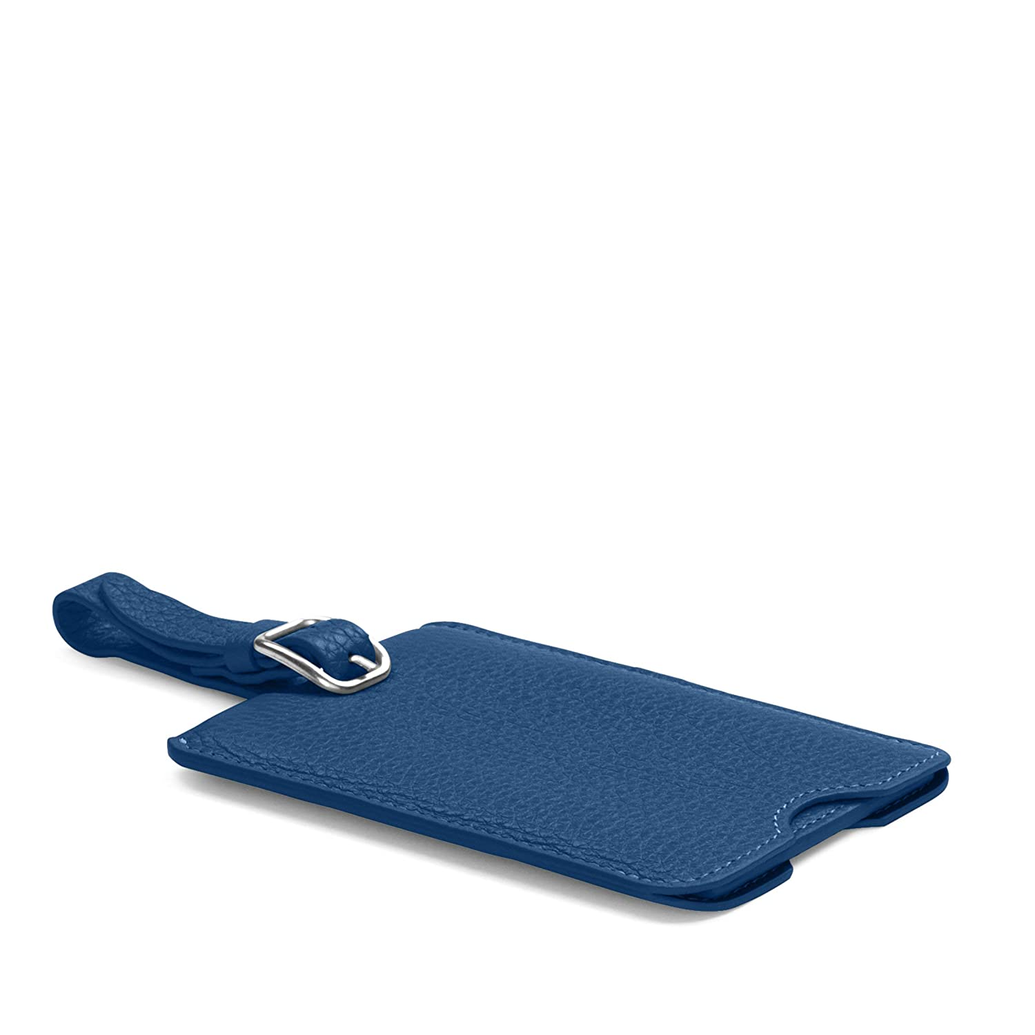 670ac524dd8d Deluxe Luggage Tag - Full Grain Leather - Cobalt (blue)