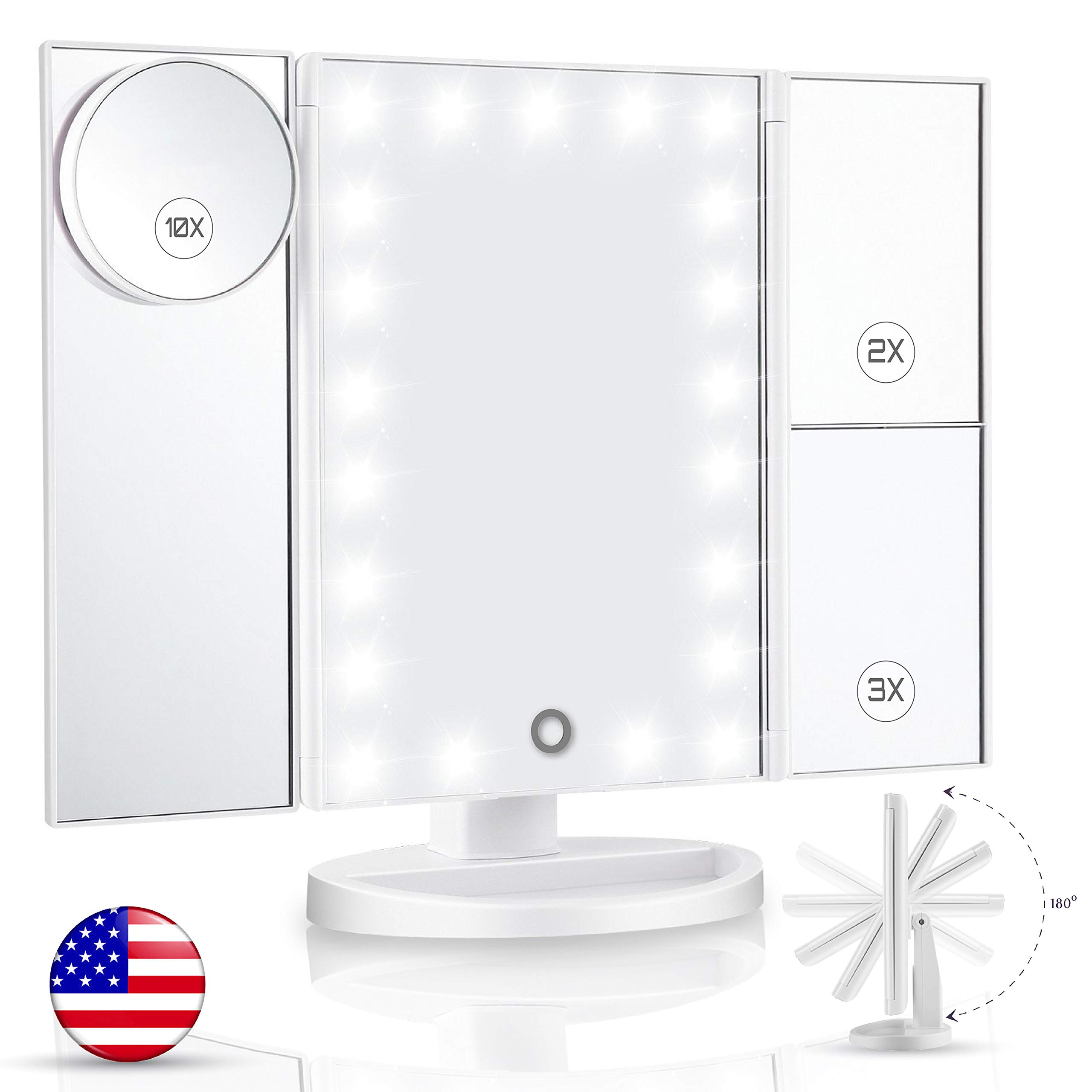 Vanity Mirror With Lights & Latest 21 Led Lighted Makeup Mirror - New 11x7.1x1\