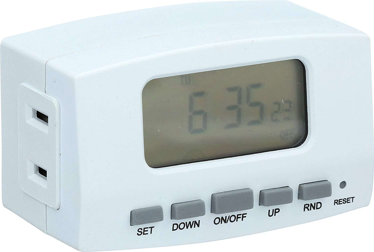 Westek TE1602WHB Weekly Digital Bar Timer, Single Outlet, White