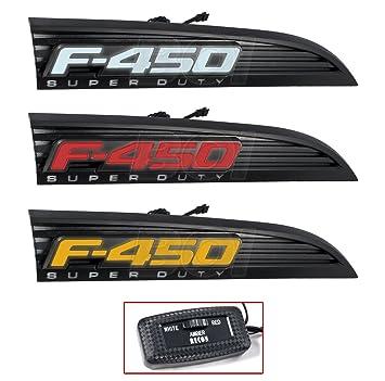 2011–2016 F-450 Superduty rot weiß gelbe Licht bis schwarz Fender ...