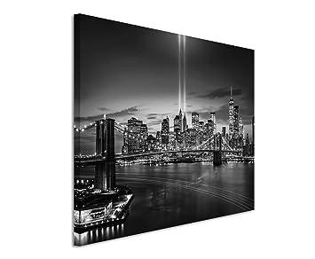 New York Leinwandbild ~ 50x70cm wandbild fotoleinwand bild in schwarz weiss new york