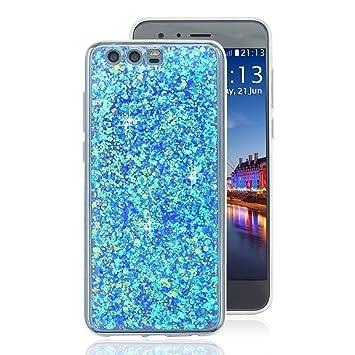 cheaper afc5d 2443e Huawei Honor 9 Back Cover Case, Huawei Honor 9 Soft Gel Case, Rosa Schleife  Sparkle Bling Glitter Soft Acrylic Gel TPU Bumper Phone Case Protective ...