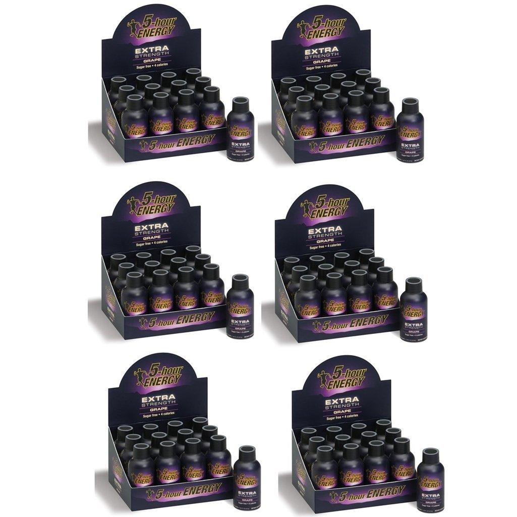 5 Hour Energy Shot Extra Strength Grape- 72 Pack of 2 Ounce Bottles