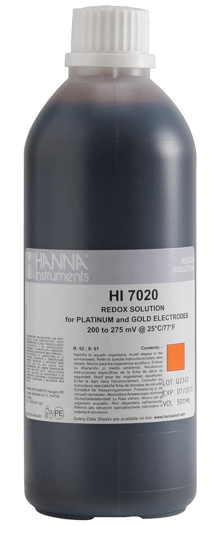 Hanna Instrument HI7020L ORP Test Solution, 200/275mV, 500mL Bottle Thomas Scientific