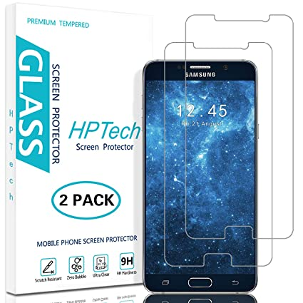 HPTech Galaxy Note 5 Screen Protector - (2-Pack) for Samsung Galaxy Note 5  [Japan Tempered Glass] Bubble Free, Easy to Install with Lifetime