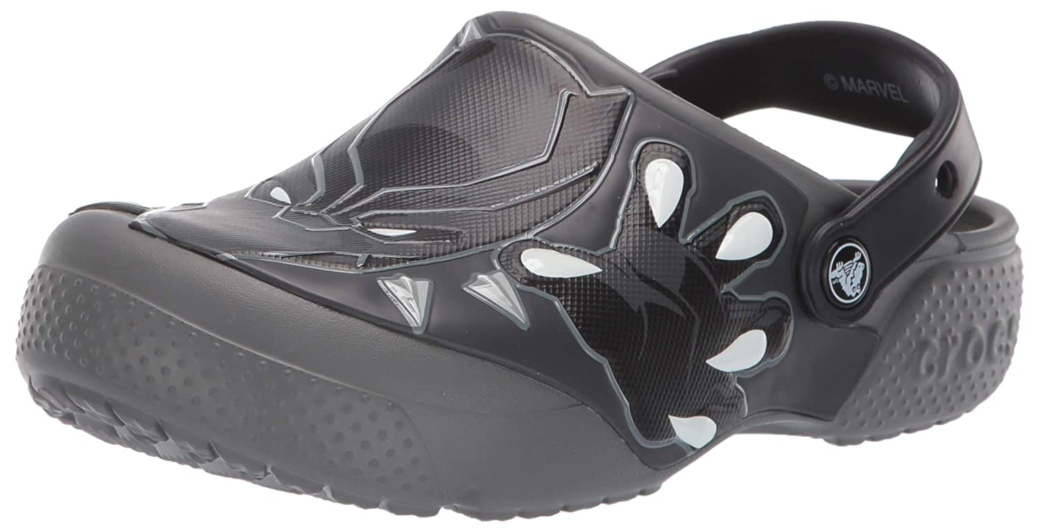Crocs Kids' Boys and Girls Black Panther Clog 205503-0DA