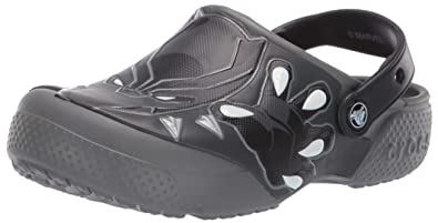 78e2ff13f52b3 Crocs Baby Boys and Girls Black Panther Clog, Slate Grey 4 M US Toddler