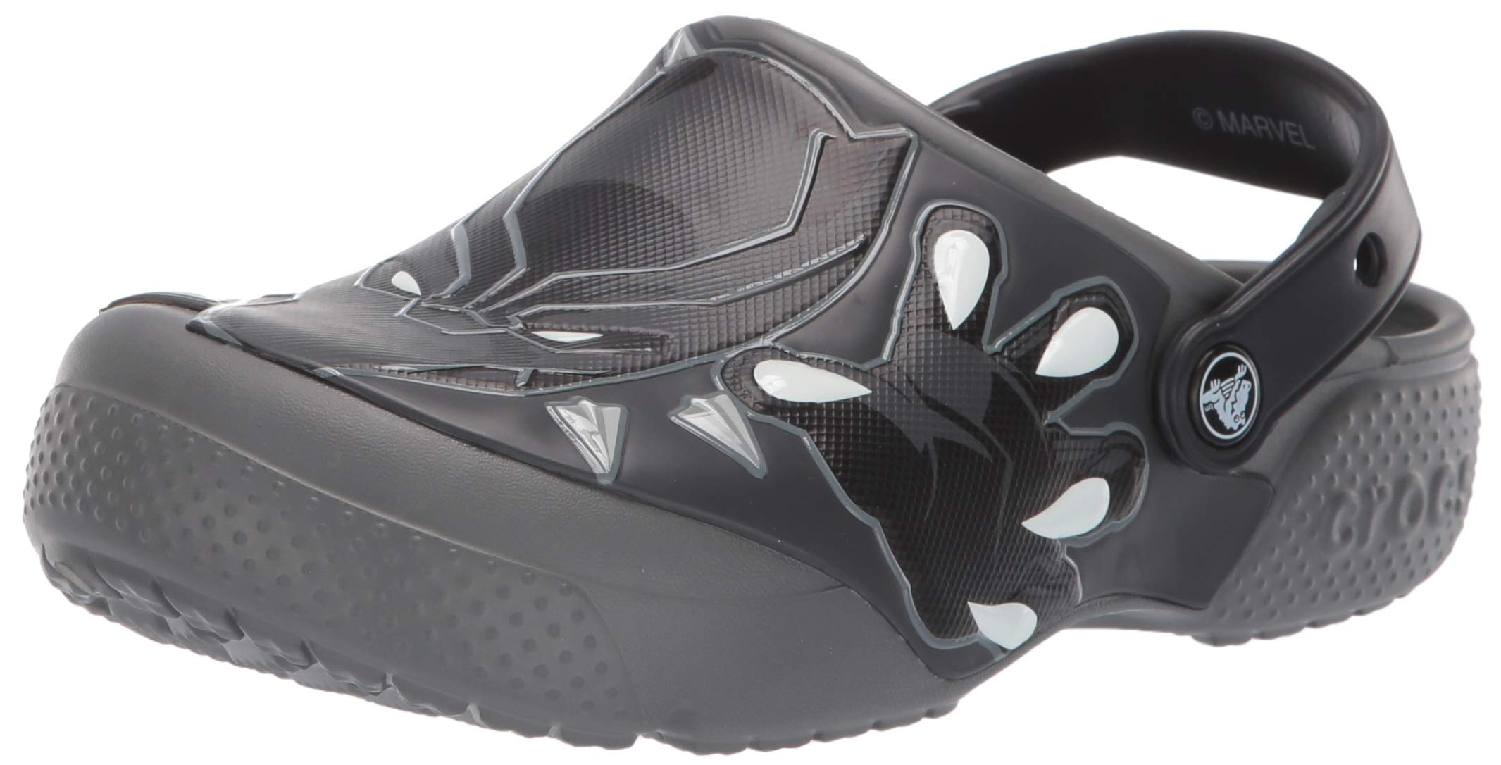 Crocs Unisex Boys and Girls Black Panther Clog, Slate Grey 1 M US Little Kid