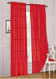 WPM 2 Piece Beautiful Sheer Window Elegance Curtains Drape Panels Treatment 60