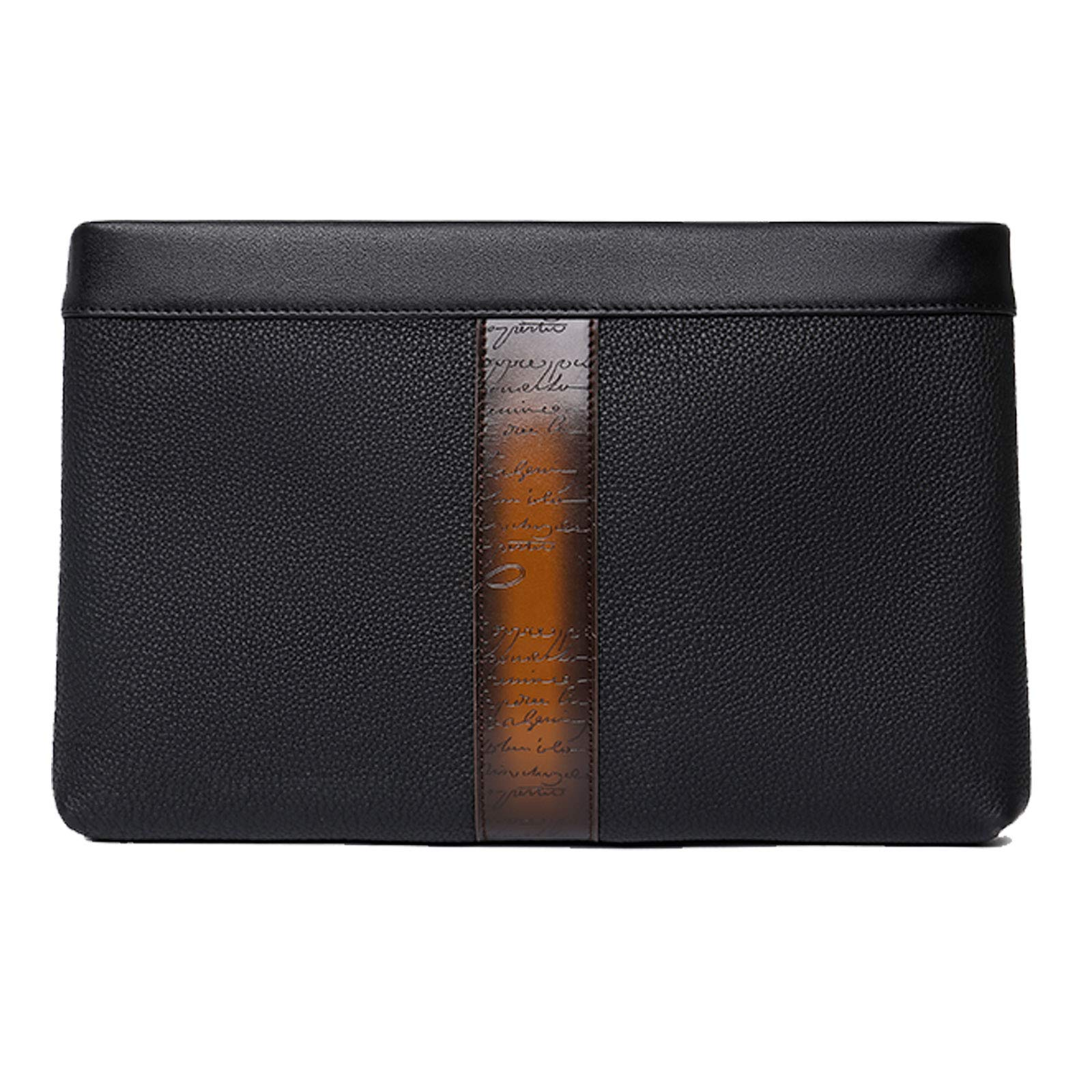 TERSE Men's Leather Wallet Clutch Purse Long Wallet Phone Case With Card Cash Holder - Italian Calfskin