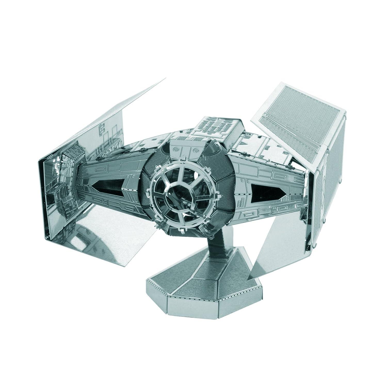 Fascinations Darth Vader's Tie Fighter Maqueta metálica 3D Star Wars, Color Plata (MMS253)