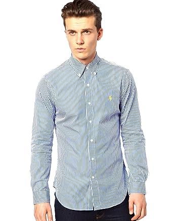 45276adb Polo Ralph Lauren Men's Shirt With Bengal Stripe PX3AM (X Large ...