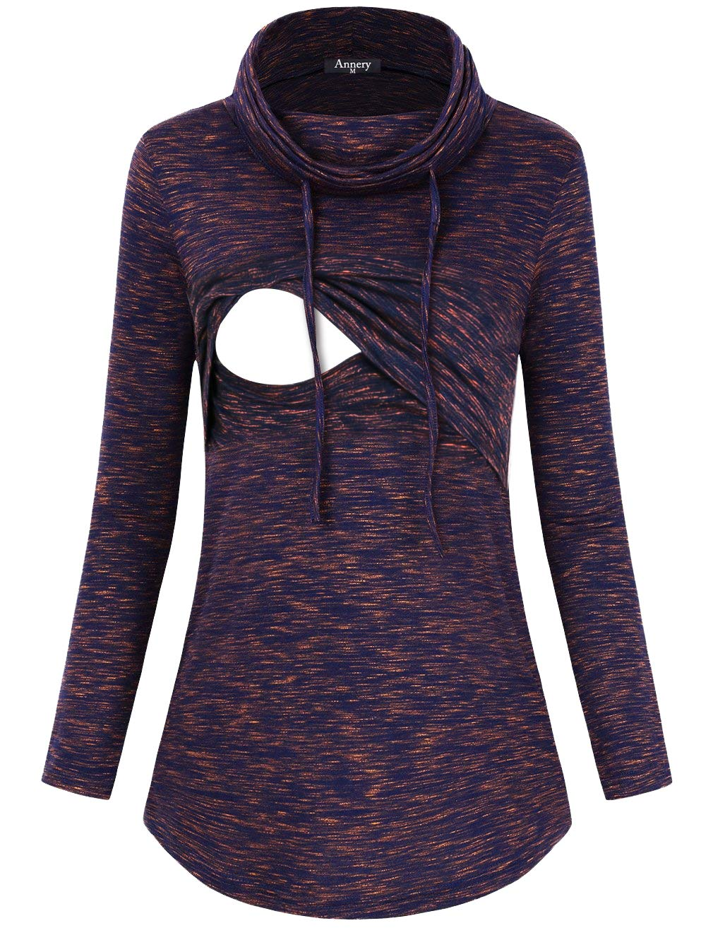 Annery Postpartum Clothes for Women, Juniors Motherhood Maternity Nursing Shirts Lift Up Breastfeeding Sweatshirt Top Latched Mama Clothes(Violet,X-Large)