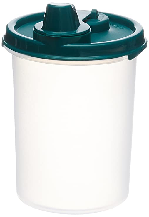 Signoraware Easy Flow Container, 450 ml, Forest Green Jars   Containers