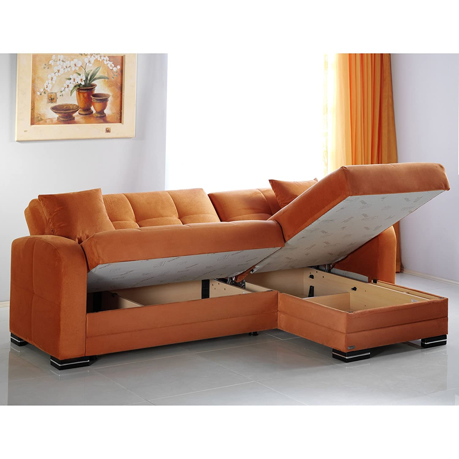 Amazon Kubo Rainbow Orange Sectional Sofa Kitchen & Dining