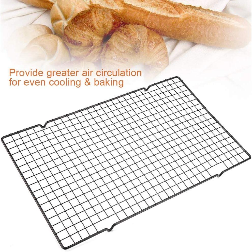 Rejilla de acero inoxidable para enfriar y hornear Bandeja de parrilla de cocci/ón saludable antiadherente con peque/ños orificios para pan de bizcocho