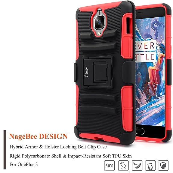 hot sale online 8b20f 00991 Amazon.com: OnePlus 3 Case, NageBee [Heavy Duty] Armor Shock Proof ...