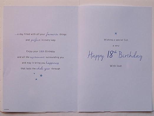 stunning top range beautifully worded son eighteen 18th birthday