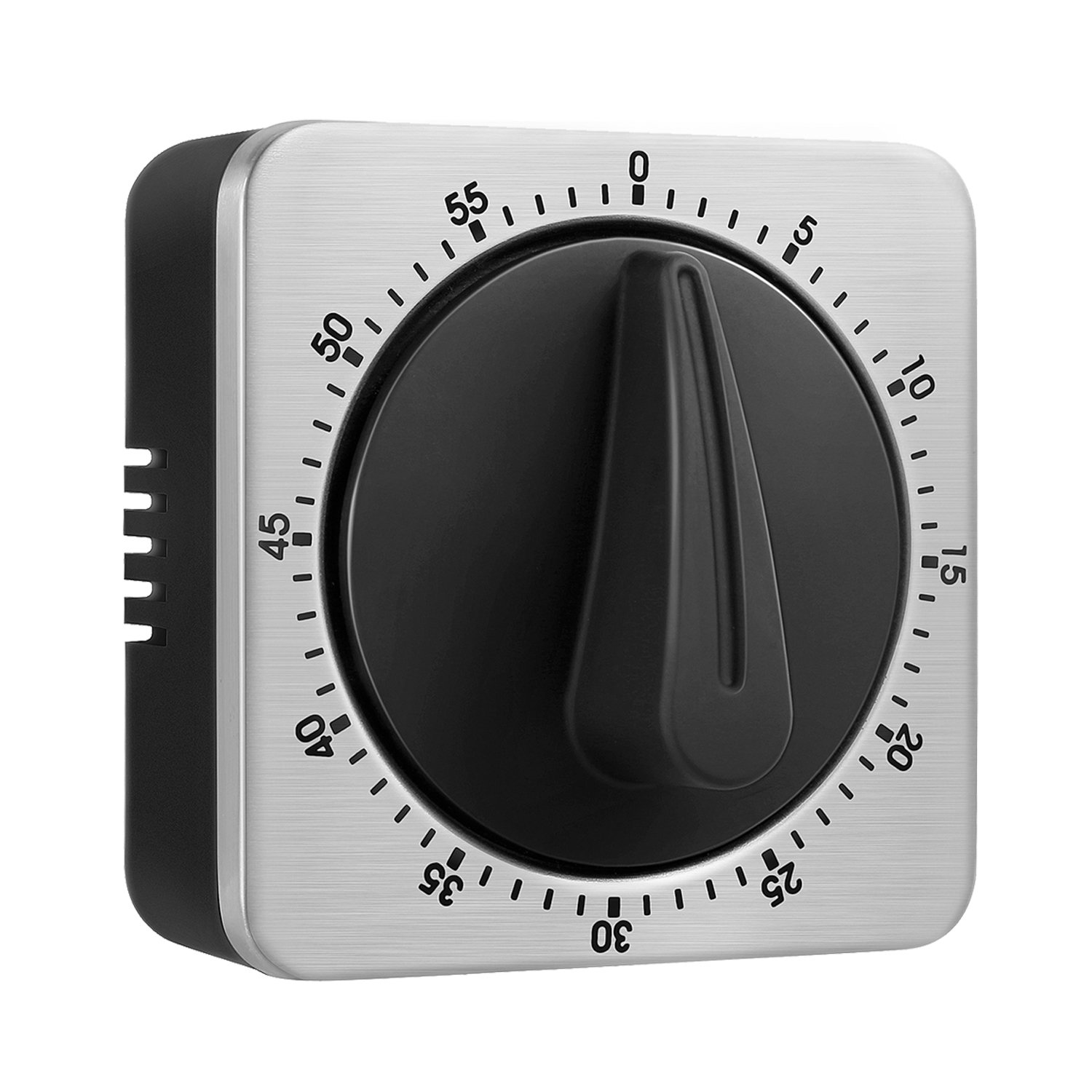 KeeQii Timer Kitchen Timer 60 Minute Timing with 80dB Alarm Sound Magnetic Countdown Timer Home Baking Cooking Steaming Manual Timer Stainless Steel Face Mechanical Timer (New Timer) by KeeQii