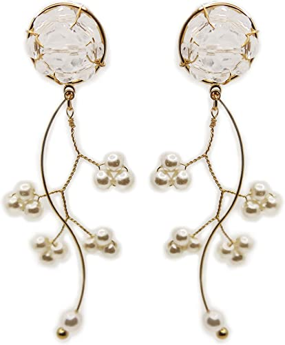 Boho Tassel Cristal Perle Boucles d/'oreilles Set Femmes Hoop Ear Stud Drop Dangle Bijoux