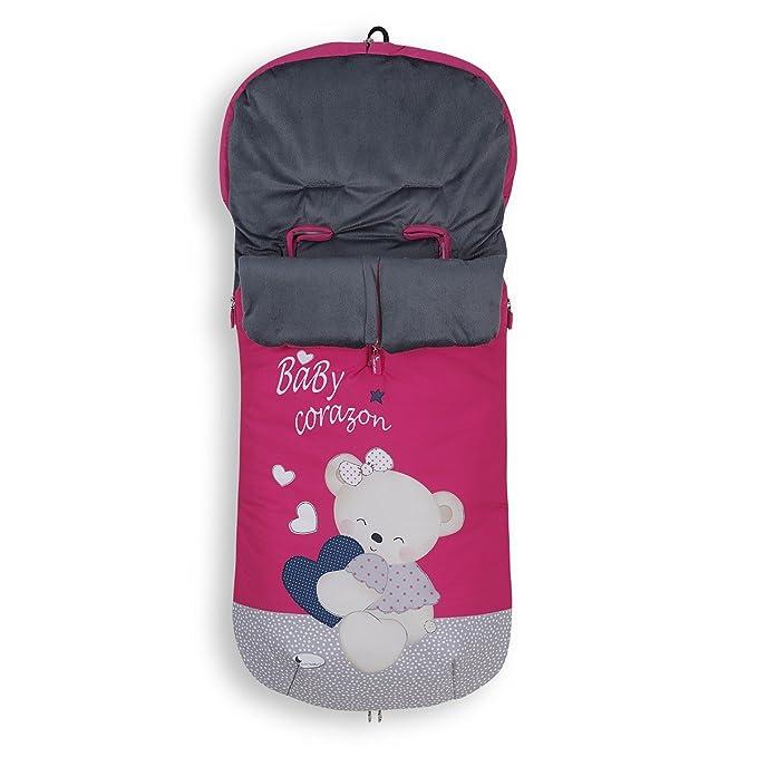 Saco Carro Baby Corazon Fucsia: Amazon.es: Bebé